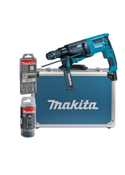 makita kombihammer hr2631ft13 f r sds plus 26 mm im alukoffer vom fachhandel ebay. Black Bedroom Furniture Sets. Home Design Ideas