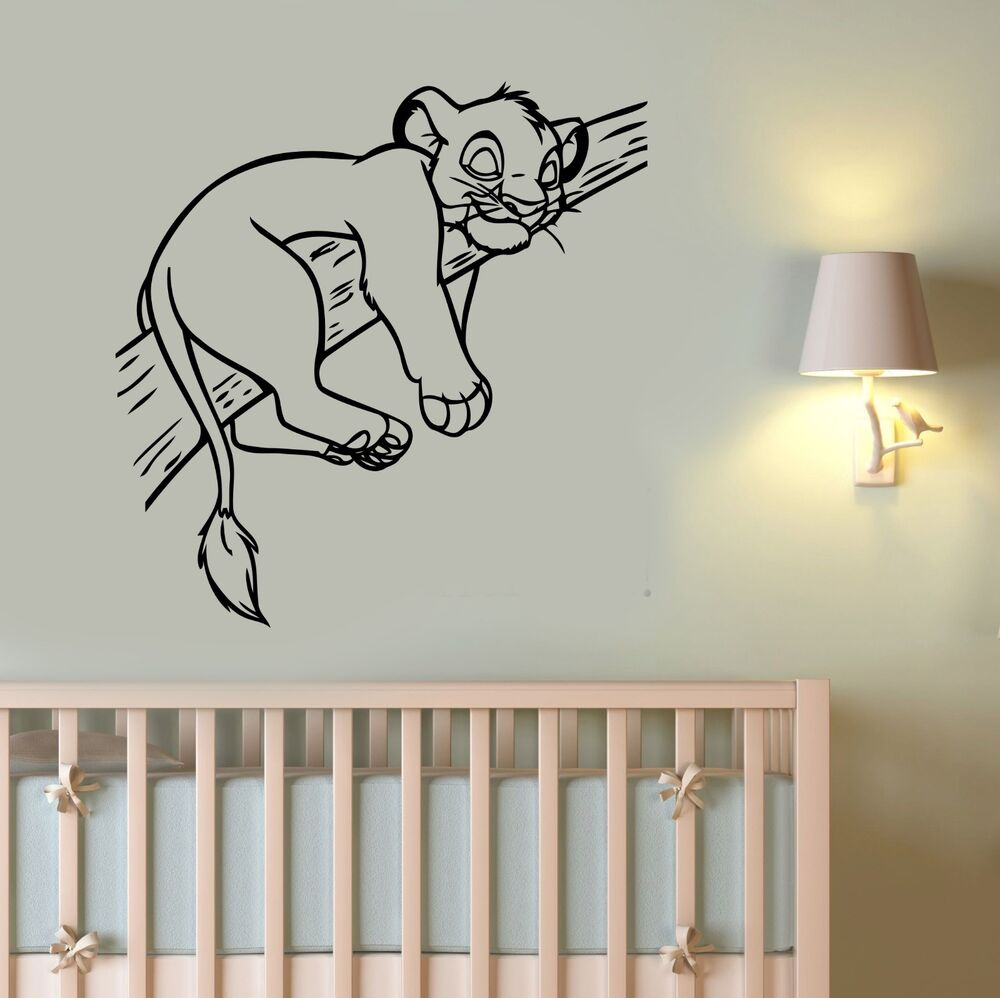 simba lion king wall decal vinyl sticker disney cartoon art nursery decor ling8 ebay. Black Bedroom Furniture Sets. Home Design Ideas