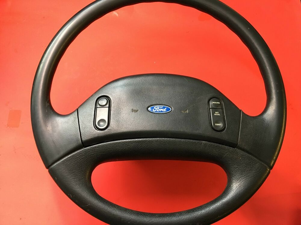 1992 1997 ford f250 f350 steering wheel non air bag style cruise control oem ebay. Black Bedroom Furniture Sets. Home Design Ideas