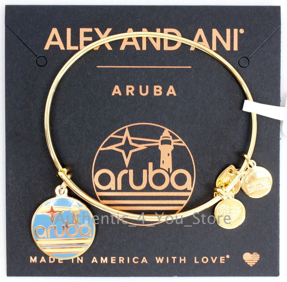 Alex And Ani Charm Bracelets: NEW ALEX AND ANI Aruba Exclusive Enamel Lighthouse GOLD