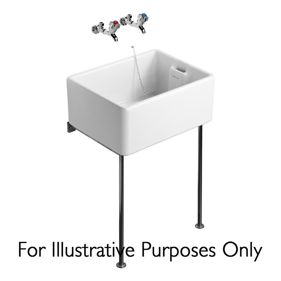 Belfast Sink Stand, Polished Stainless STEEL Legs & Alloy Bearers ...