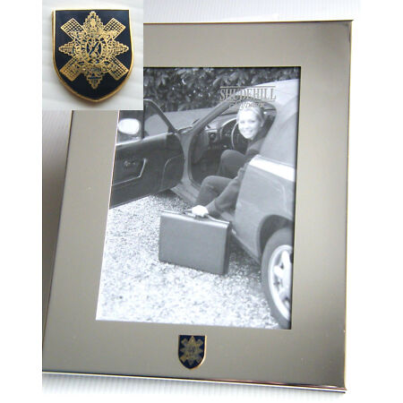 img-THE BLACK WATCH ARMY BADGE SILVER CHROME PLATED PHOTO FRAME OPTIONS MILITARY