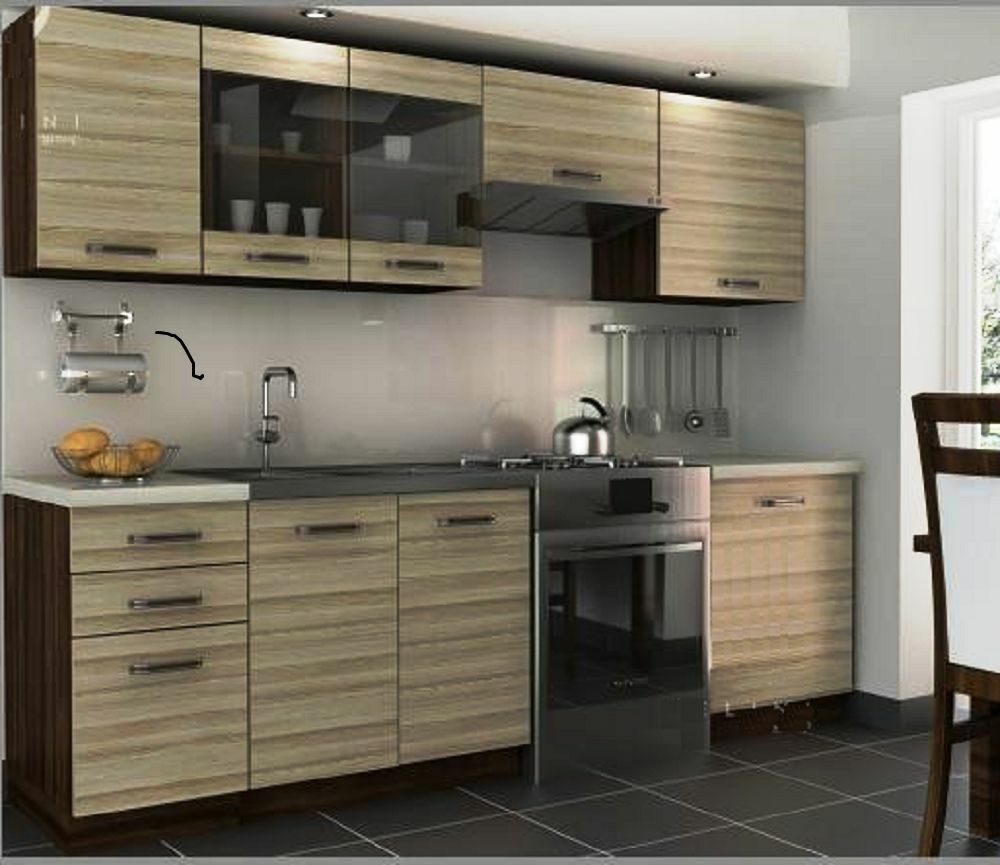 Brand new complete kitchen cabinets set torino240cm 7units for Full set kitchen
