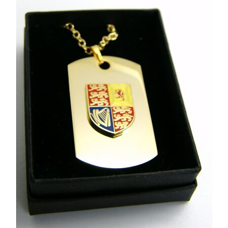 img-THE ROYAL STANDARD CYPHER CREST BADGE DOG TAG PENDANT MILITARY GIFT IN BOX