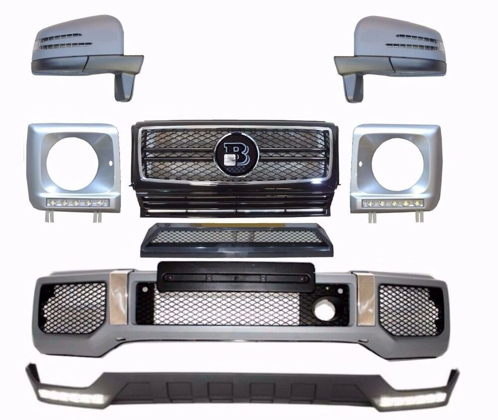 Mercedes w463 g class amg body kit g63 front bumper for Mercedes benz g500 parts accessories