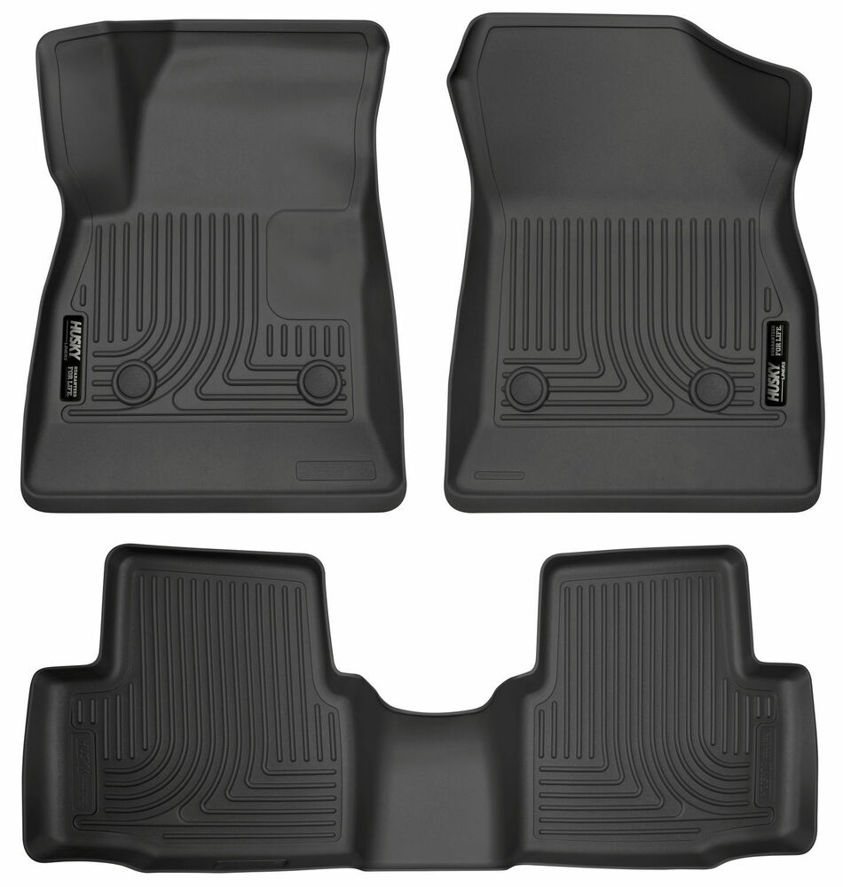 husky liners weatherbeater floor liner mats front rear 2016 2017 chevy cruze ebay. Black Bedroom Furniture Sets. Home Design Ideas