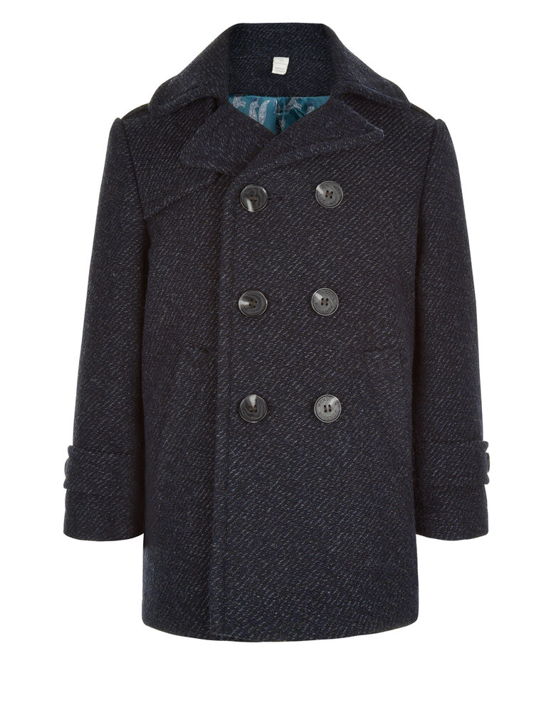 Pea coats or pilot jackets first appeared in the late s. They were originally designed for European servicemen and featured double-breasted fronts, large wooden or metal buttons and broad lapels. Military-style pea coats were made from wool and known for their large vertical or slash pockets.