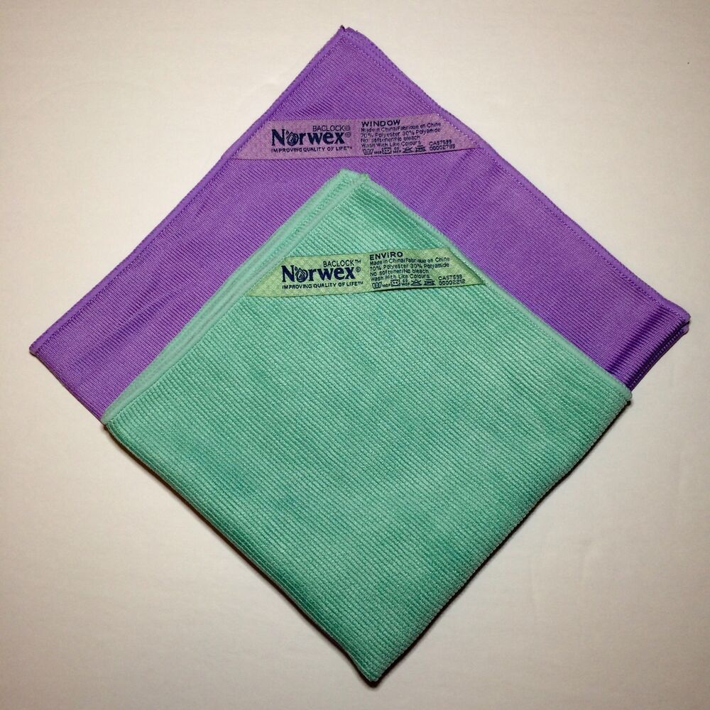Norwex Window Cleaning: Norwex Basic Package GREEN EnviroCloth PURPLE Window Cloth