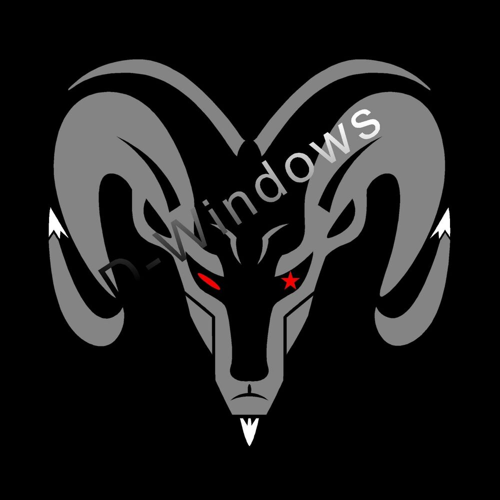 dodge ram head decal mopar sticker 11 x10 5 inch grey. Black Bedroom Furniture Sets. Home Design Ideas