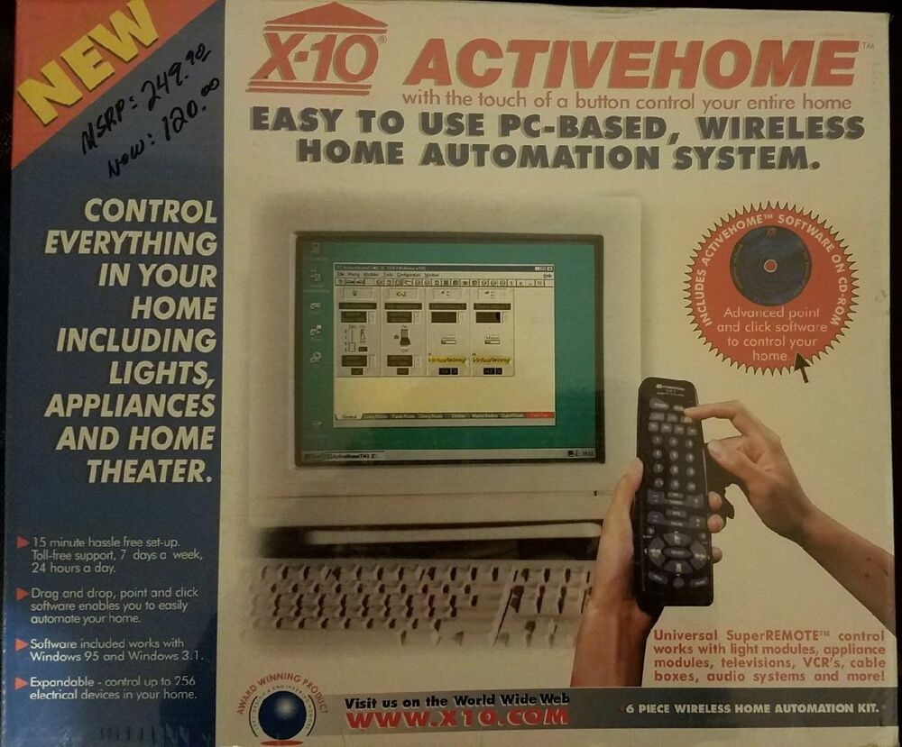 X 10 activehome wireles pc based home automation system for Home automation basics