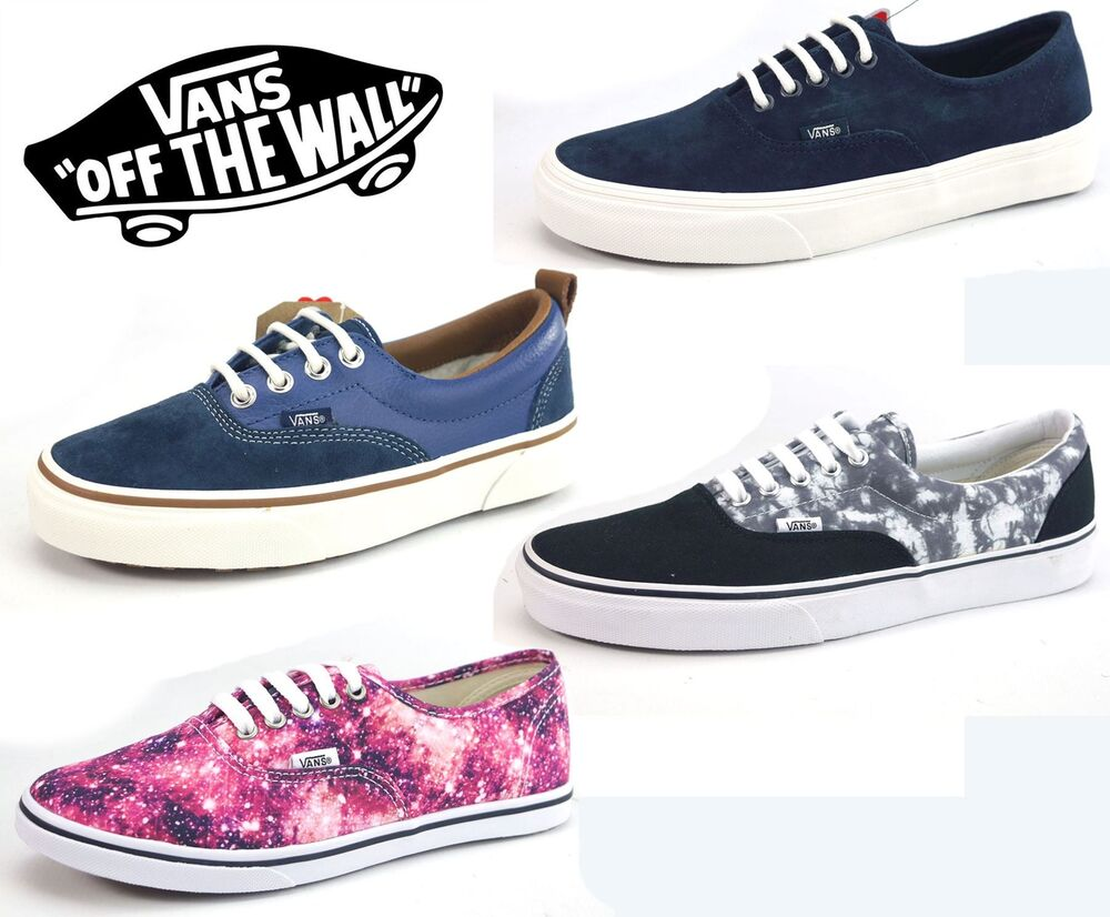 VANS Authentic Canvas Mens Ladies Disney Navy Cosmic Lace ...