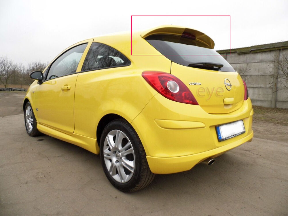 opel vauxhall corsa d 3d rear roof spoiler vxr ebay. Black Bedroom Furniture Sets. Home Design Ideas