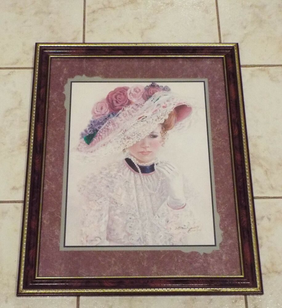 Details About Bettie Herbert Felder The Garden Party Victorian Lady Home Interiors Picture