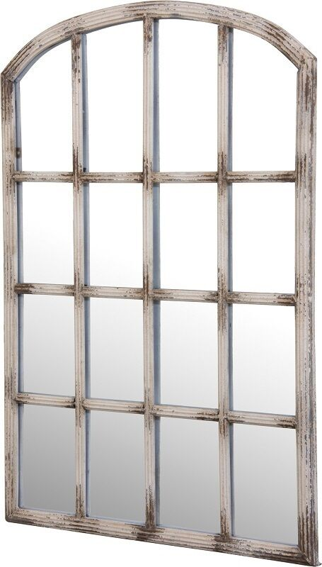 New weathered window frame mirror wall art decor vintage for Mirror window wall decor