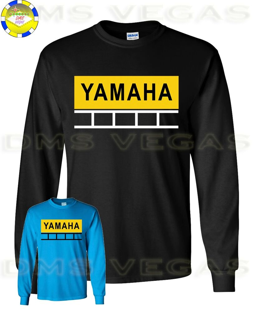 yamaha 60th anniversary motorcycle long sleeve t shirt men. Black Bedroom Furniture Sets. Home Design Ideas