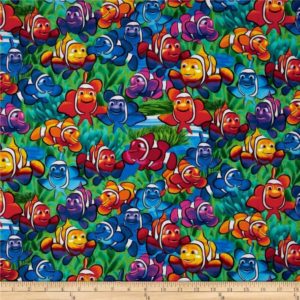 Clown fish fabric tropical fish rainbow ocean timeless for Fish fabric for quilting