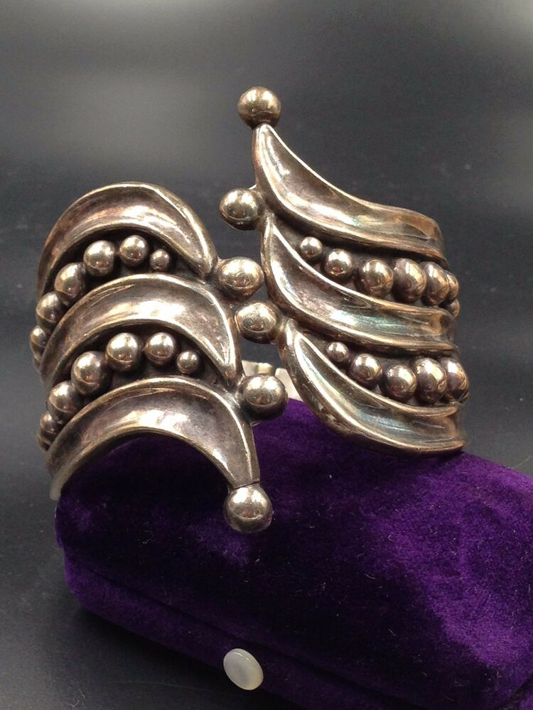 VTG HECHO EN MEXICO TAXCO STERLING SIGNED JHC EAGLE MARK