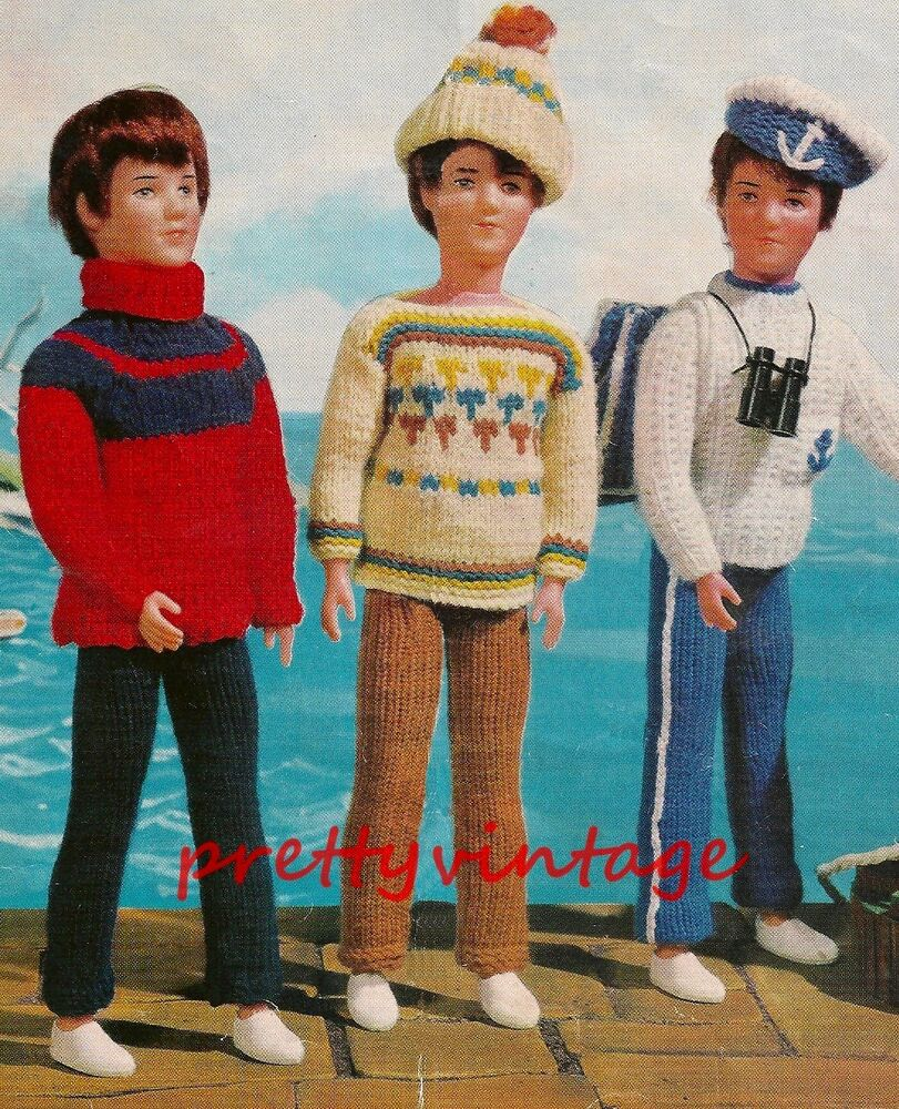 How To Knit Loops On A Pattern : KNITTING PATTERN TO MAKE VINTAGE ACTION MAN PAUL KEN DOLLS CLOTHES eBay