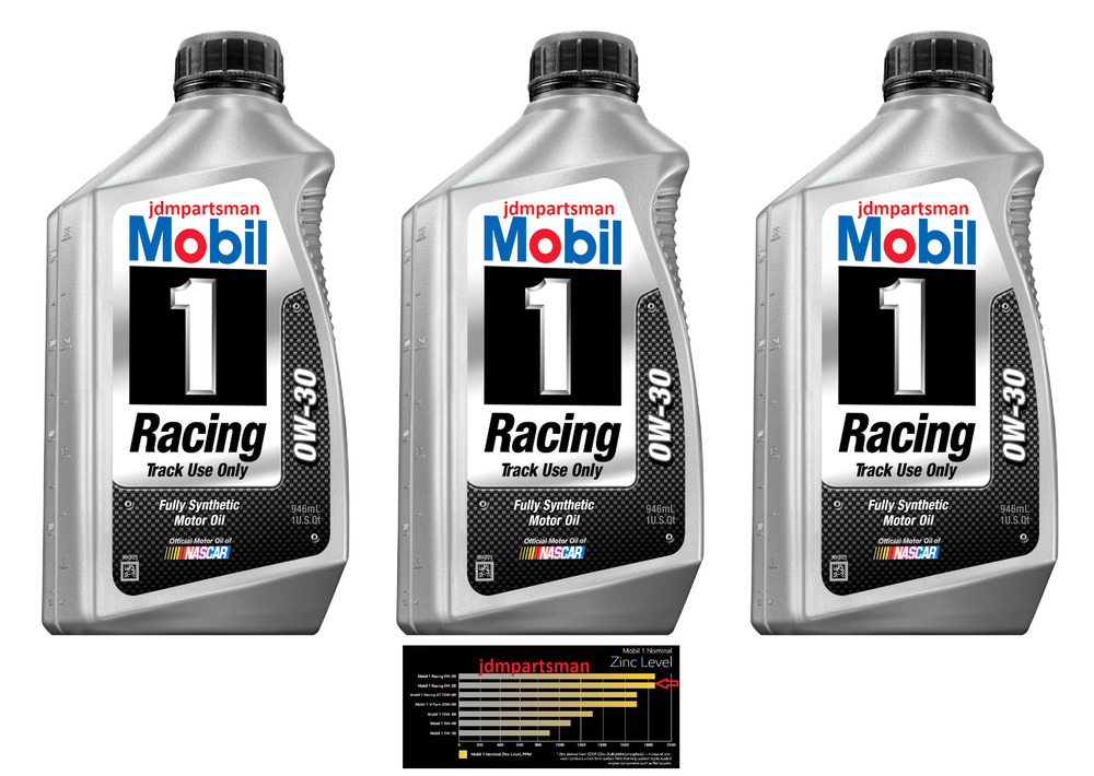 mobil 1 0w 30 racing synthetic zinc phosphorous motor oil. Black Bedroom Furniture Sets. Home Design Ideas