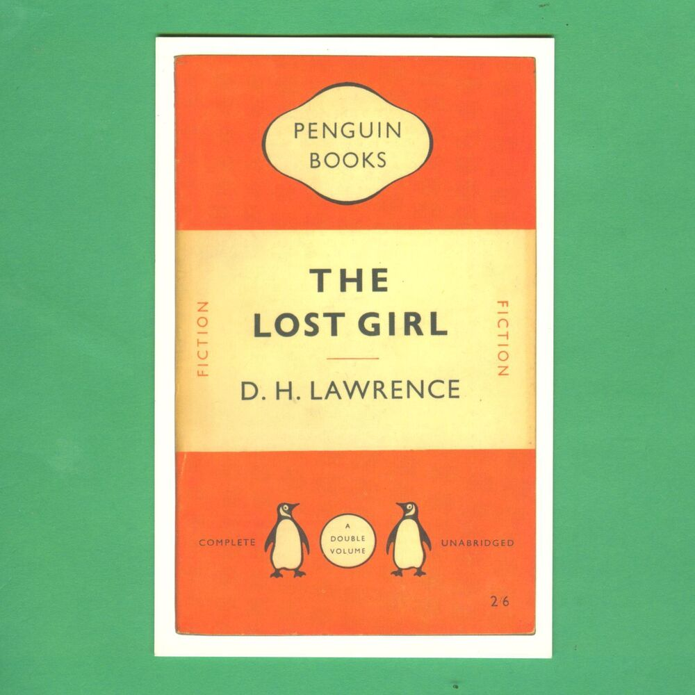 Penguin Book Cover Postcards From ~ Postcard the lost girl by d h lawrence penguin book