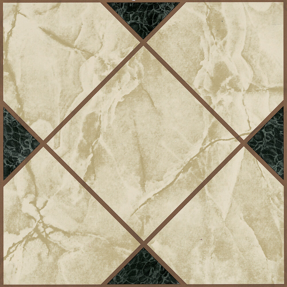 60 X Vinyl Floor Tiles Self Adhesive Bathroom Kitchen Victorian Marble 193 Ebay