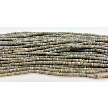 Grey Oyster Shell Heishi Beads  24 Inches Strand 2-3  mm