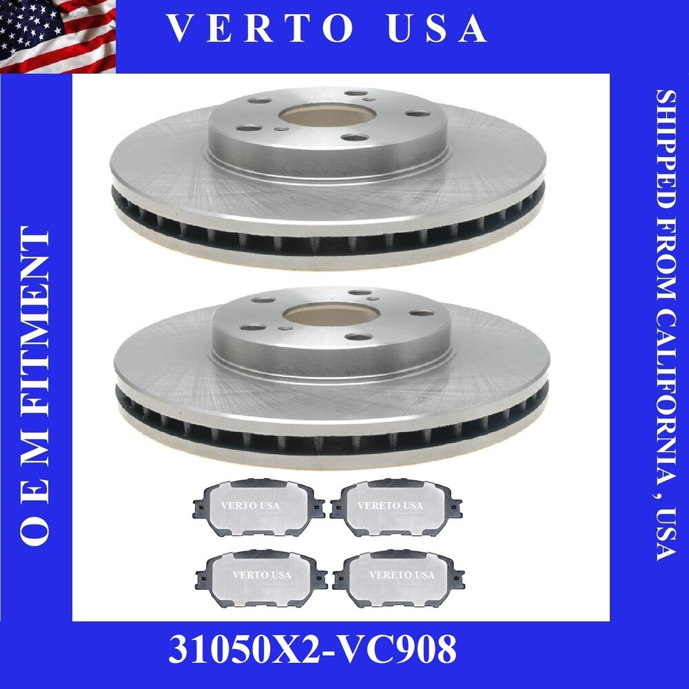 front brake rotors ceramic pads fit toyota camry 2002 2006 4cyl 6 cyl le ebay. Black Bedroom Furniture Sets. Home Design Ideas