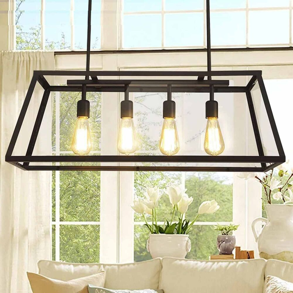 Ceiling Lamp Kitchen: Contemporary Industrial Ceiling Pendant Cage Metal Light