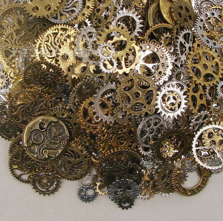Is Steampunk Jewelry A Craft Or An Art: Popular 50g Watch Parts STEAMPUNK CYBERPUNNK COGS GEARS