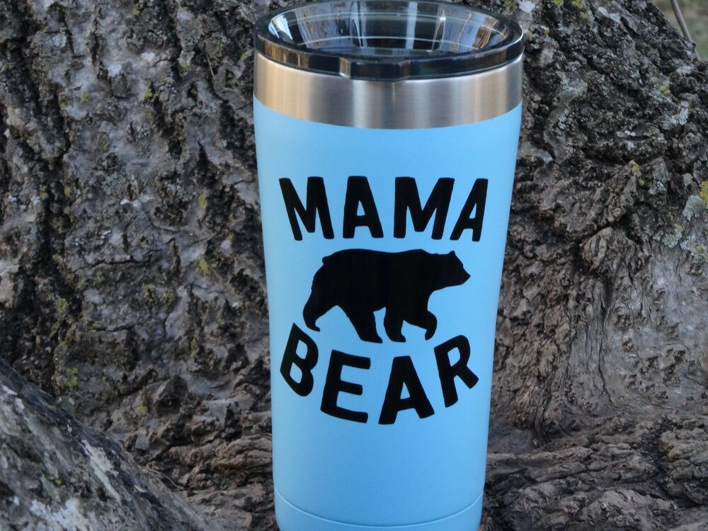 Custom Mama Bear Vinyl Decal For Stainless Tumblers