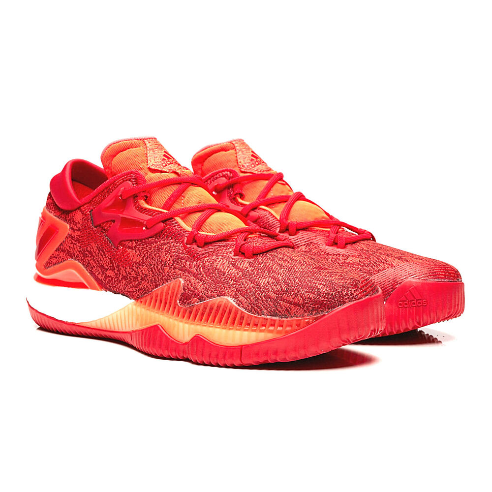 new product 0da59 15b19 Details about Mens Adidas Crazylight Boost Low 2016 James Harden Red Orange  Basketball Shoes