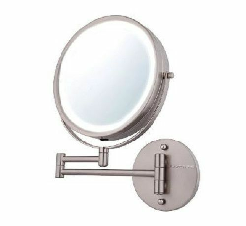Led Makeup Mirror Lighted Vanity Wall Mount 10x Magnifying