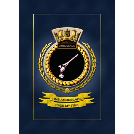 img-HMS AMBUSCADE SHIPS BADGE/CREST - HUNDREDS OF HM SHIPS IN STOCK