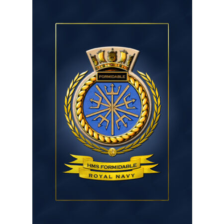 img-HMS FORMIDABLE SHIPS BADGE/CREST - HUNDREDS OF HM SHIPS IN STOCK