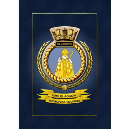 img-HMS GLASGOW SHIPS BADGE/CREST - HUNDREDS OF HM SHIPS IN STOCK