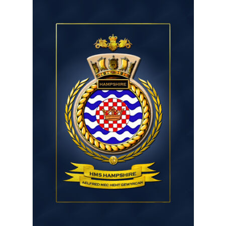 img-HMS HAMPSHIRE SHIPS BADGE/CREST - HUNDREDS OF HM SHIPS IN STOCK
