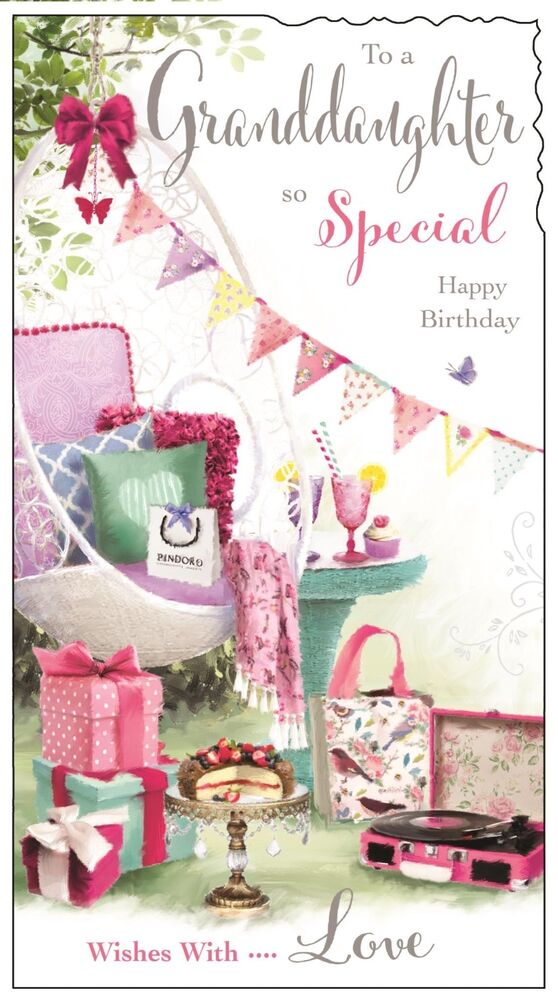 Details About Special Granddaughter Birthday Card Luxury Verse Made In UK
