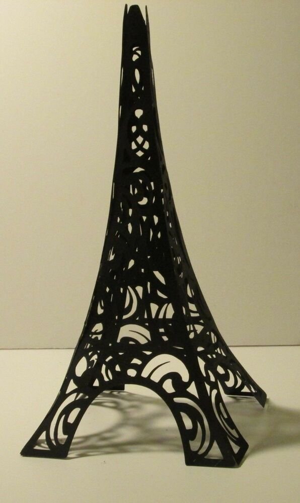 paris themed paper eiffel tower cake topper decoration 8 inches tall ebay. Black Bedroom Furniture Sets. Home Design Ideas