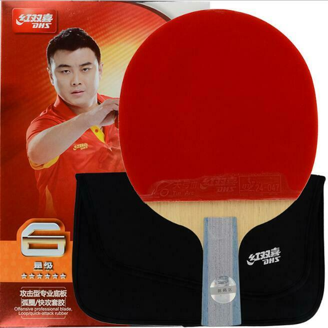 Table Tennis Dhs 6006 Rackets Ping Pong Paddle Bat 6 Star