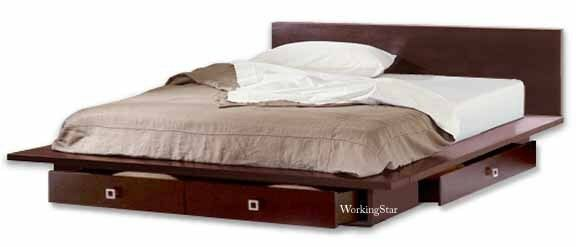Queen or King Platform Bed with Drawers, Furniture ...
