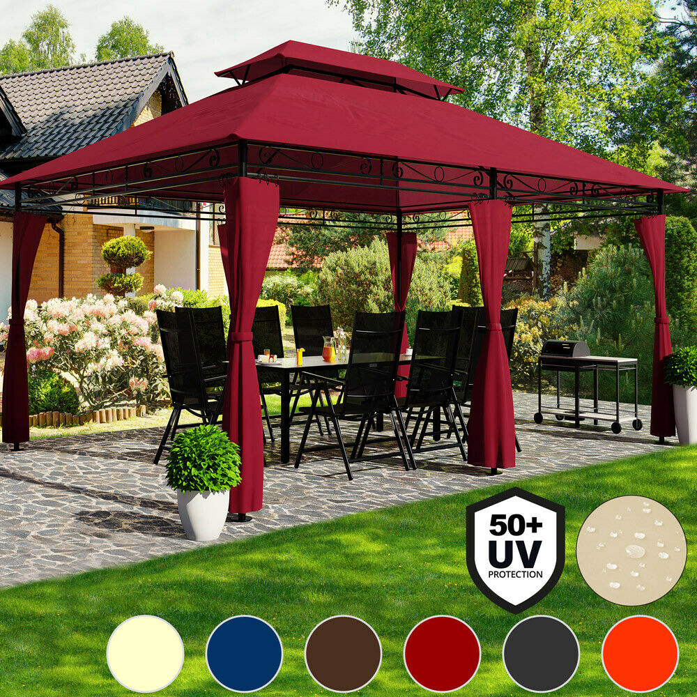 pavillon festzelt 4x3 partyzelt garten pavillion gartenzelt gartenpavillon topas ebay. Black Bedroom Furniture Sets. Home Design Ideas
