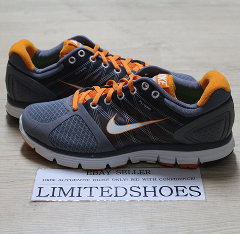 04b54fc70f9f5 Details about WMNS NIKE LUNARGLIDE+2 COOL GREY WHITE ORANGE 407647-005  WOMENS US 9 red volt 8