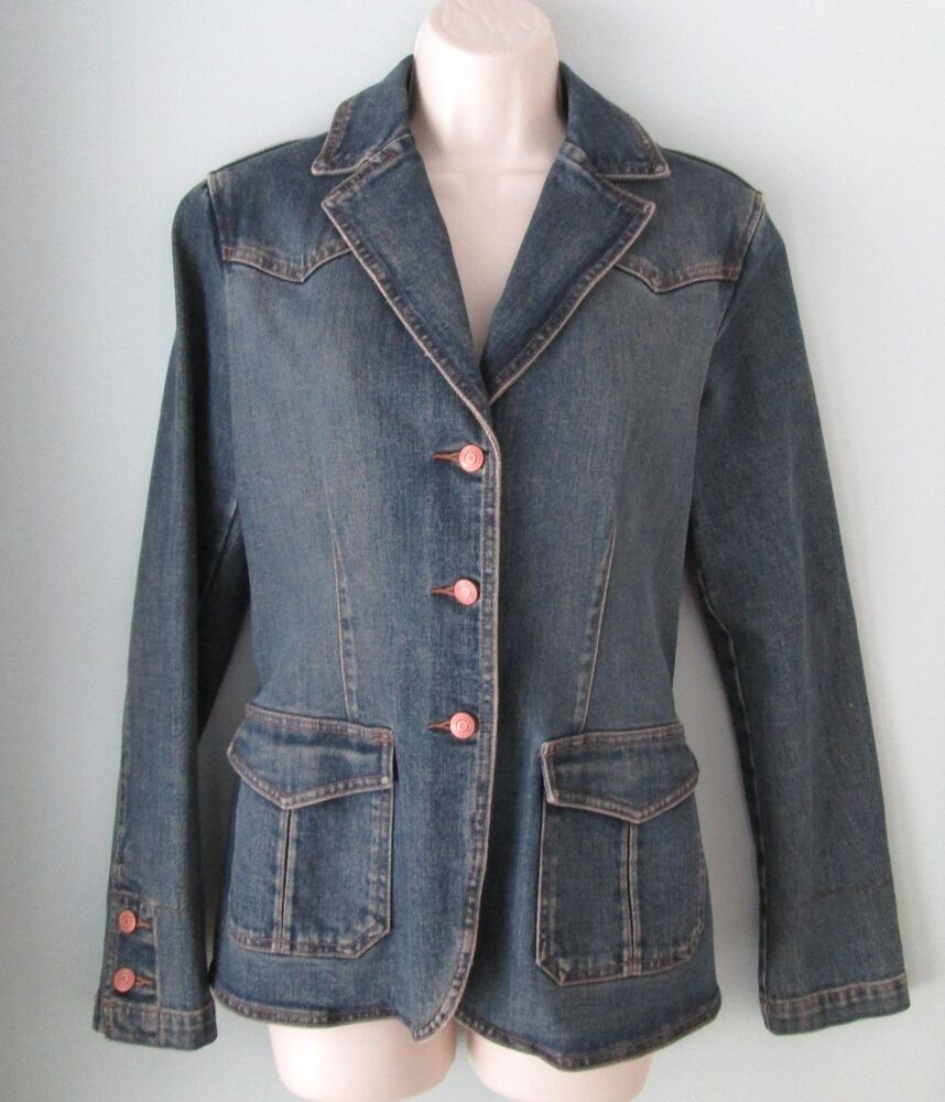 womens fitted denim jacket wwwimgkidcom the image