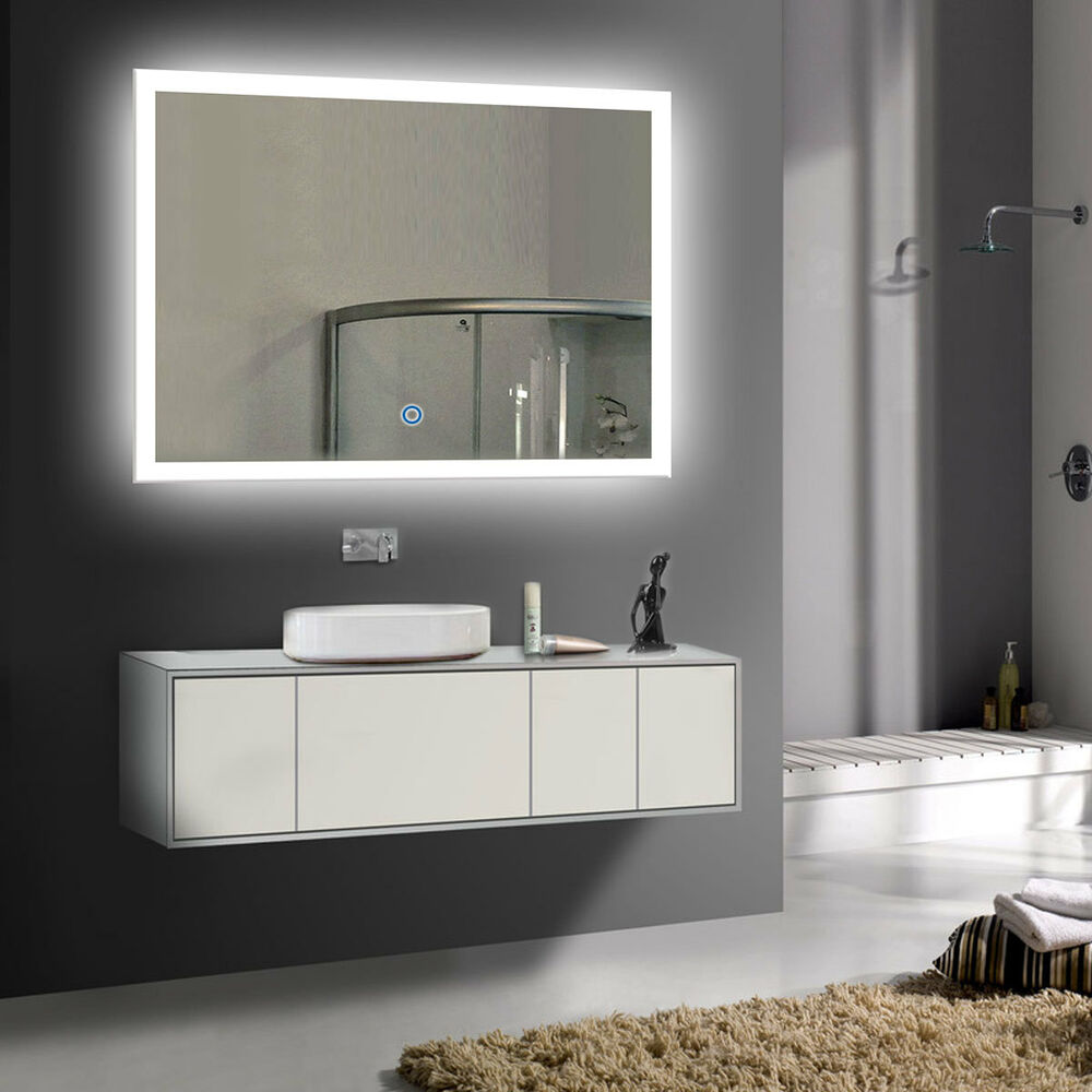 Led Bathroom Wall Mirror Illuminated Lighted Vanity Mirror