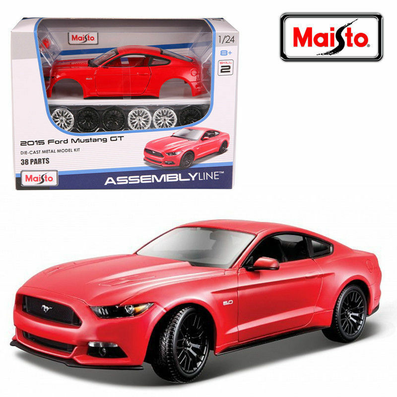 maisto 1 24 2015 ford mustang gt assembly diy racing car. Black Bedroom Furniture Sets. Home Design Ideas