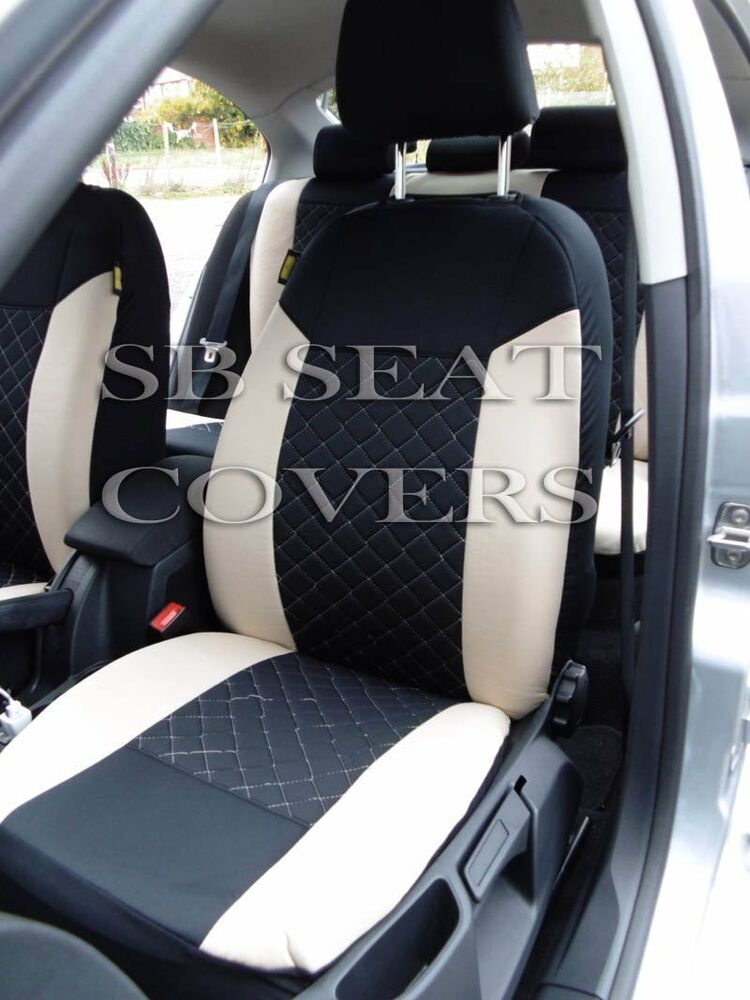 i to fit a mini cooper car seat covers beige black diamond full set ebay. Black Bedroom Furniture Sets. Home Design Ideas