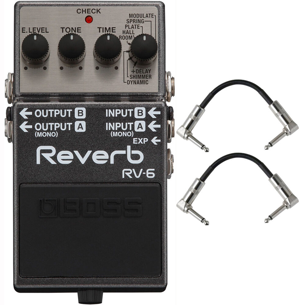 Boss Rv 6 Digital Reverb Stereo Mono Guitar Effects Pedal