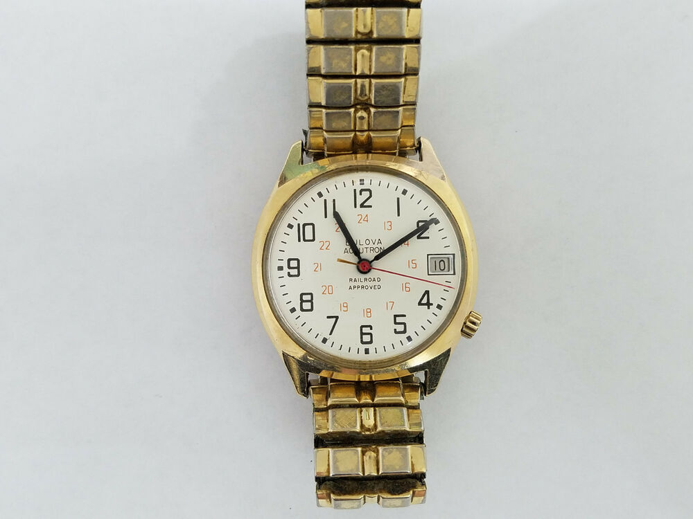 bulova accutron 14kt gold filled railroad approved