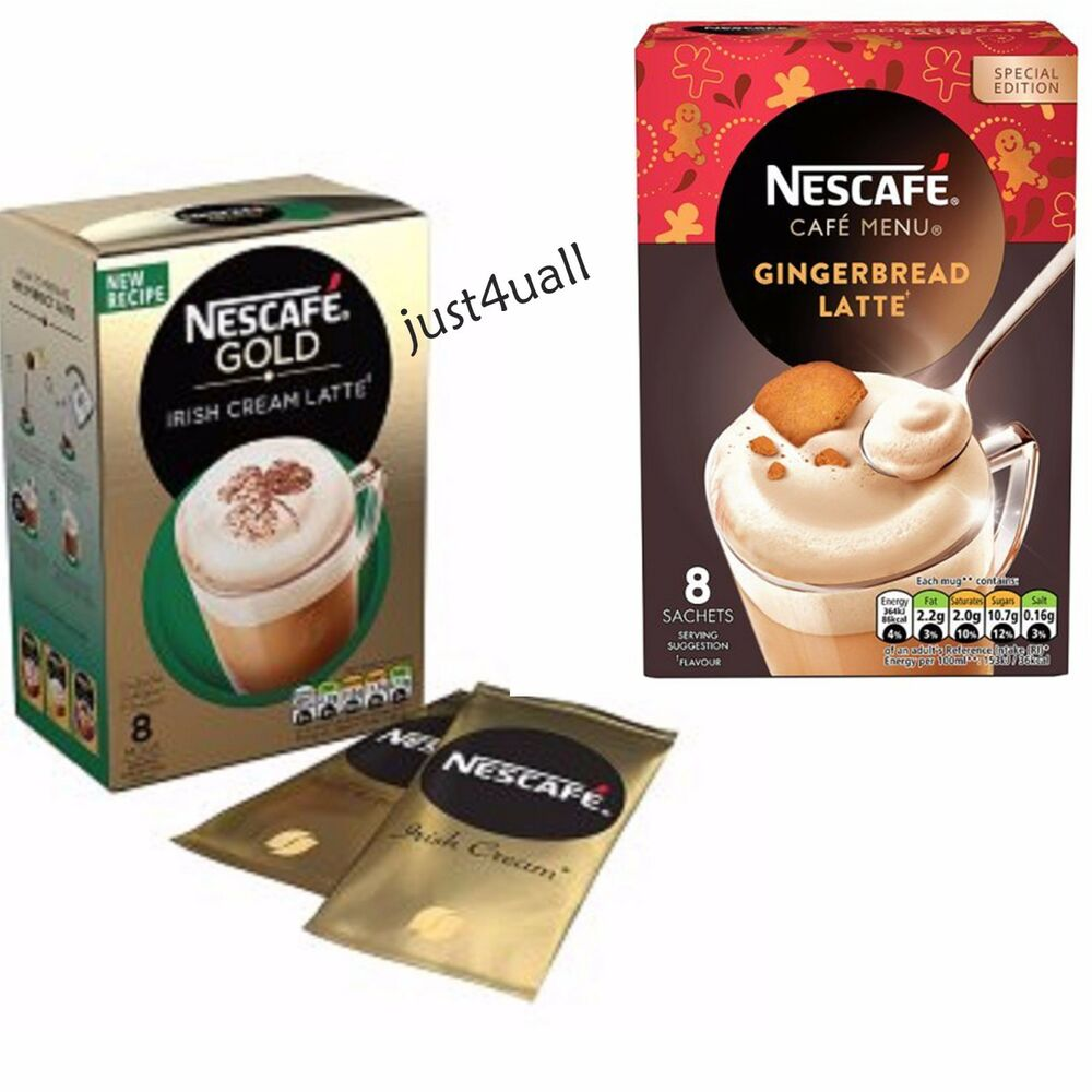 Nescafe GOLD Latte Irish Cream Or Gingerbread Latte