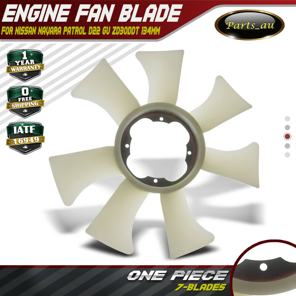 Radiator Fan Blade for Nissan Navara Patrol D22 GU 3.0L ZD30DDT 134mm  across 21000000036 | eBay